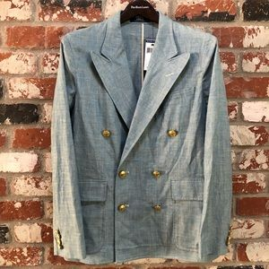 NWT Polo by Ralph Lauren Chambray Blazer